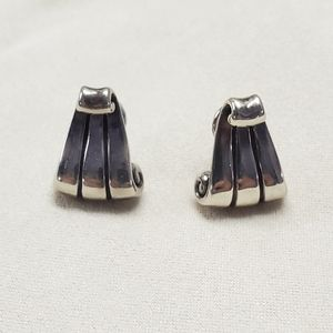 James Avery Retired Small Scroll French clips